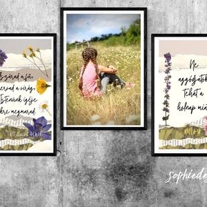 2db IGÉS grafika- préselt virágokkal, Művészet, Grafika & Illusztráció, Fotó, grafika, rajz, illusztráció, Gyermekkorom óra rajongok minden kis apró vadvirágért. Lenyűgöz az a sok rejtett szépség, pompa, az ..., Meska