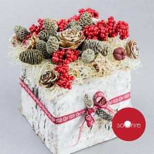 Mikulás doboz, Karácsony, Mikulás, Mikulás beltéri dekoráció, Mindenmás, Meska