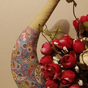 Tilda Liba, Otthon & lakás, Dekoráció, Varrás, Tilda szabásminta által készített liba. A liba magassága kb. 37cm.\n, Meska