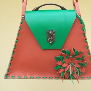 A Dizájn táska vidám nyári ruhába öltöztetve, Táska & Tok, Válltáska, Kézitáska & válltáska, Bőrművesség, Meska