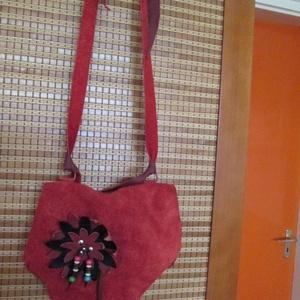 AKCIÓ!!!!  Az érdekes kistáska ,,kisebb testvére,,pirosban (spalti51) - Meska.hu