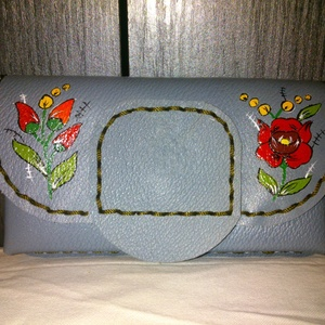Kalocsai mintával festett papírzsepkendő tartó,vagy mobiltelefon tartó (spalti51) - Meska.hu