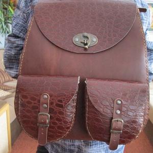 Óriási  női hátizsák, Táska & Tok, Hátizsák, Hátizsák, Bőrművesség, Meska