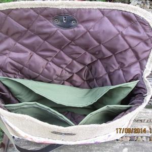 Egy újabb kalocsai hímzése betéttel díszített pakolos táska,laptop táska (spalti51) - Meska.hu