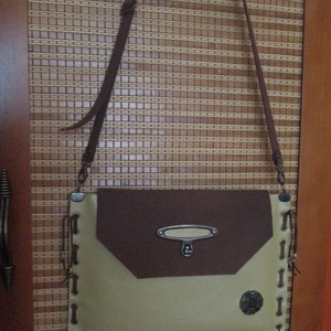 SpaltiDizájn táska5 Sokminden belefér táska sárga-barna változatban (spalti51) - Meska.hu