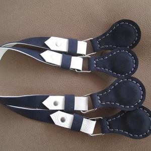 Mindkét oldalán használható o bag táskafül kék-fehér variációban - Meska.hu