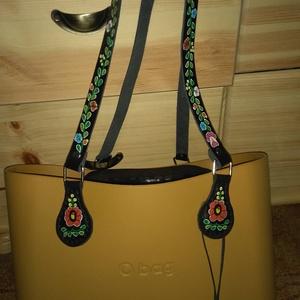 Festett O bag táskafül feketében hosszabb méretben - Meska.hu