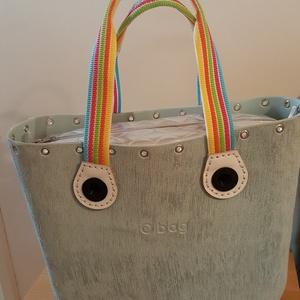 O bag táskafül sokszínű csíkos hevederből - Meska.hu