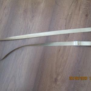 Táskapánt,csúszóval állítható,arany színű bőrből (spalti51) - Meska.hu