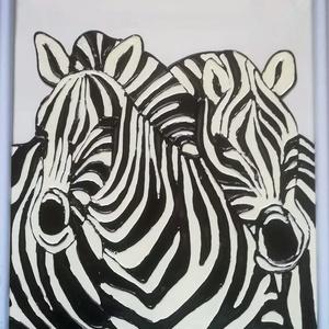 Zebrák üvegfestmény. Több változatban. Vasarely stilusban., Festmény vegyes technika, Festmény, Művészet, Festészet, Üvegművészet, Üveglapra festett kép kb. 22*31 cm-es méretben, bekeretezve.\nAz ár kerettel együtt értendő.\nSpeciáli..., Meska