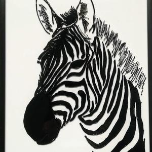 Zebrák./ Zebrás képek./ üvegfestmény,- több változatban. Vasarely stilusban., Festmény vegyes technika, Festmény, Művészet, Festészet, Üvegművészet, Kedves látogató!!!!!!!!!!!! Köszönöm, hogy benézett hozzám!!!!!!! \nEzek a zebrás képek bármelyike eg..., Meska