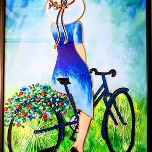 Kerék PÁR os.  /biciklis /képek. Több változatban.Üvegfestmények, Művészet, Festmény, Festmény vegyes technika, Üvegművészet,  Kedves leendő vásárlóm!!!!!! Köszönöm, hogy benézett hozzám. \nEzek a biciklis képek egy leendő bici..., Meska