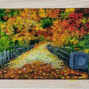 Őszi varázs./Az ősz színei./Üvegre festett kép., Művészet, Festmény, Festmény vegyes technika, Üvegművészet, Festészet, Kedves látogató!!!!!!!!!! \nEzt a képemet az ősz varázlatos színei inspirálták, - ami akár az otthona..., Meska