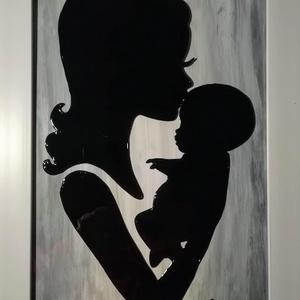 Anyaság a legszebb áldás. - Vigyázó kezek.-  Babavárásra.  Festett üveg falikép, üvegfestmény., Festmény, Művészet, Festmény vegyes technika, Festészet, Üvegművészet, Kedves látogató.-  Köszöntöm, hogy benézett a boltomba !!!\n\nEzeket a képeket ajánlom édesanyáknak,  ..., Meska