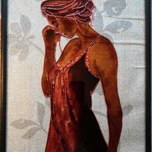 Ébredés 2021. /Szexi csokoládé/.Festett üveg falikép, üvegfestmény., Művészet, Festmény, Festmény vegyes technika, Festészet, Üvegművészet, Kedves látogató. Köszöntöm, hogy benézett a virtuális boltomba !!!\n - Ezt a képet már a 2021-es évre..., Meska
