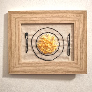 Pasta????, Otthon & Lakás, Dekoráció, Falra akasztható dekor, Hímzés, Buon Appetito????\n\nHa ismersz valakit, aki pasta imádó, vagy csak felakarod dobni a konyhádat ezzel ..., Meska