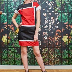 Linear, Táska, Divat & Szépség, Ruha, divat, Női ruha, Ruha, Varrás, A neoplaszticizmus inspirálta Linear dress egy igazán különleges és fiatalos utcai összeállítás, his..., Meska