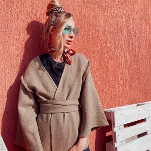 Gyapjú KIMONO, Ruha & Divat, Női ruha, Pulóver & Kardigán, Varrás, Egzotikus és klasszikus viselet, amely az általad kiválasztott tiszta gyapjúból fog elkészülni.\n Már..., Meska