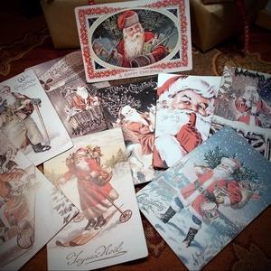 Vintage Karácsony - Mikulás képeslap 8. (SteamPlum) - Meska.hu