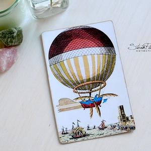 Vintage képeslap - Hőlégballon 1. (SteamPlum) - Meska.hu
