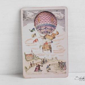 Vintage képeslap - Hőlégballon 4. (SteamPlum) - Meska.hu