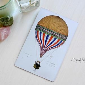 Vintage képeslap - Hőlégballon 9. (SteamPlum) - Meska.hu