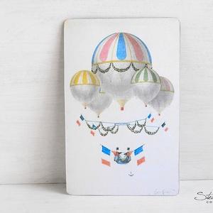 Vintage képeslap - Hőlégballon 11. (SteamPlum) - Meska.hu