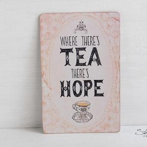 Vintage képeslap - Tea time 1. (SteamPlum) - Meska.hu