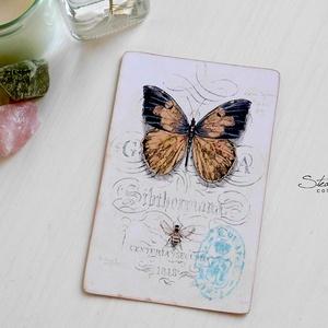 Vintage képeslap - Pillangó 1. (SteamPlum) - Meska.hu