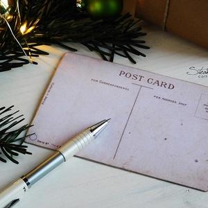 Vintage Karácsony - Mikulás képeslap 1. (SteamPlum) - Meska.hu
