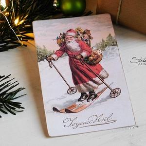 Vintage Karácsony - Mikulás képeslap 5. (SteamPlum) - Meska.hu