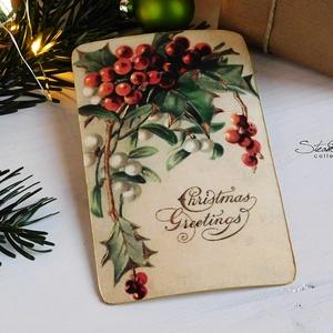 Vintage Karácsony képeslap 1. (SteamPlum) - Meska.hu