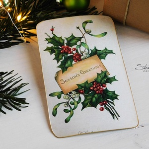 Vintage Karácsony képeslap 2. (SteamPlum) - Meska.hu