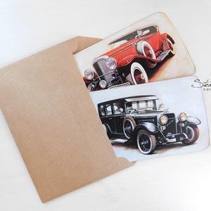 Vintage képeslap - Oldtimer 1. (SteamPlum) - Meska.hu