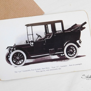 Vintage képeslap - Oldtimer 5. (SteamPlum) - Meska.hu