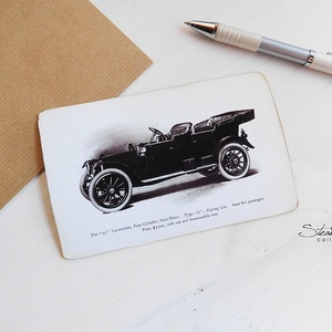 Vintage képeslap - Oldtimer 6. (SteamPlum) - Meska.hu