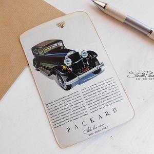 Vintage képeslap - Oldtimer 9. (SteamPlum) - Meska.hu