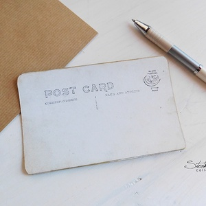Vintage képeslap - Oldtimer 10. (SteamPlum) - Meska.hu