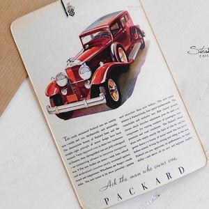 Vintage képeslap - Oldtimer 11. (SteamPlum) - Meska.hu