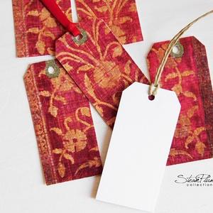 Vintage ajándékkísérő kártya 2., Karácsonyi, adventi apróságok, Ünnepi dekoráció, Dekoráció, Otthon & lakás, Ajándékkísérő, Naptár, képeslap, album, Ajándékkísérő, Mindenmás, Könyvkötés, 6 db-os, elegáns, 220 grammos dekorpapírra nyomott, igazi vintage hangulatú ajándékkísérő, mely töké..., Meska