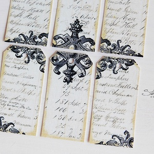 Vintage ajándékkísérő kártya 5. (SteamPlum) - Meska.hu
