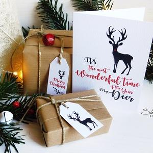 My Deer - Rénszarvasos karácsonyi képeslap 3. (SteamPlum) - Meska.hu