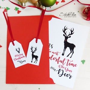 My Deer - Rénszarvasos karácsonyi képeslap 4. (SteamPlum) - Meska.hu