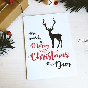 My Deer - Rénszarvasos karácsonyi képeslap 6. (SteamPlum) - Meska.hu
