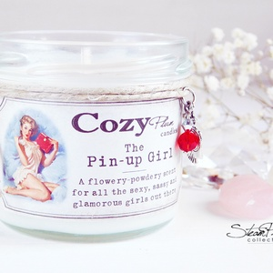 """The Pin-up Girl szójagyertya, Otthon & lakás, Dekoráció, Lakberendezés, Gyertya, mécses, gyertyatartó, Dísz, Gyertya-, mécseskészítés, >>> The Pin-up Girl <<<\n\n""""A flowery-powdery scent, for all the sexy, sassy and glamorous girls out t..., Meska"""