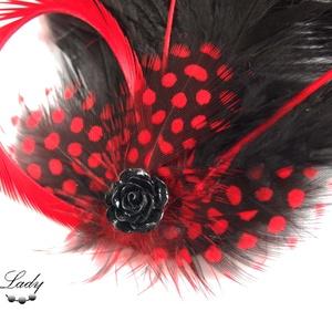 Dark Princess - fekete-piros toll hajdísz (Steellady) - Meska.hu