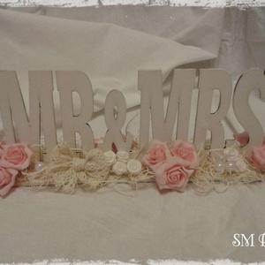 Vintage esküvői asztaldísz (Steigusz) - Meska.hu
