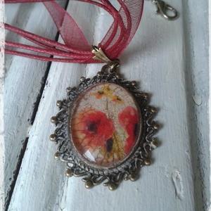 Vintage  virágos medál (Steigusz) - Meska.hu