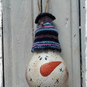 Karácsonyfadísz (hóember) (Steigusz) - Meska.hu
