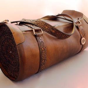 Urkund bőr utazó táska (Steixner) - Meska.hu